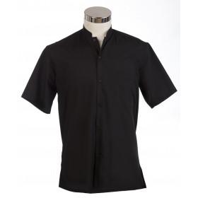Camisa bali manga corta negra
