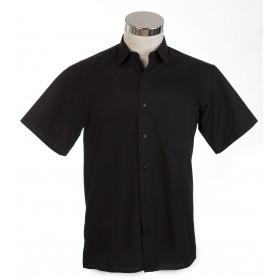 Camisa manga corta negra cbllo